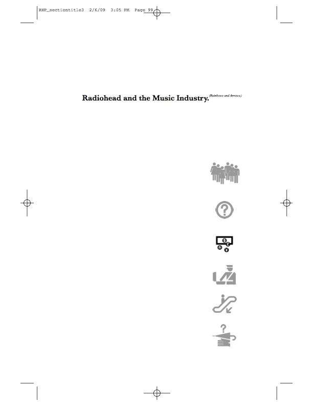 Radiohead and Philosophy, Section Page